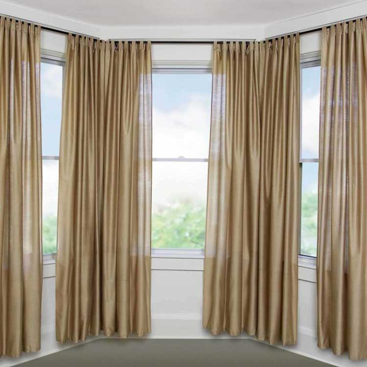 Double Brown curtain