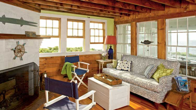Living Room with Folding Chairs