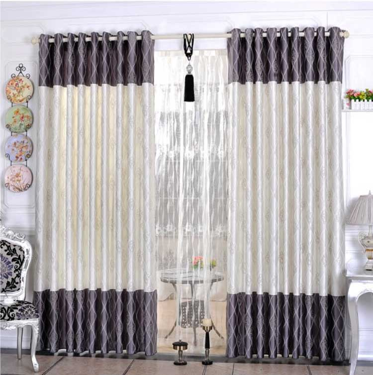 Monochrome Patterned Spiral curtain
