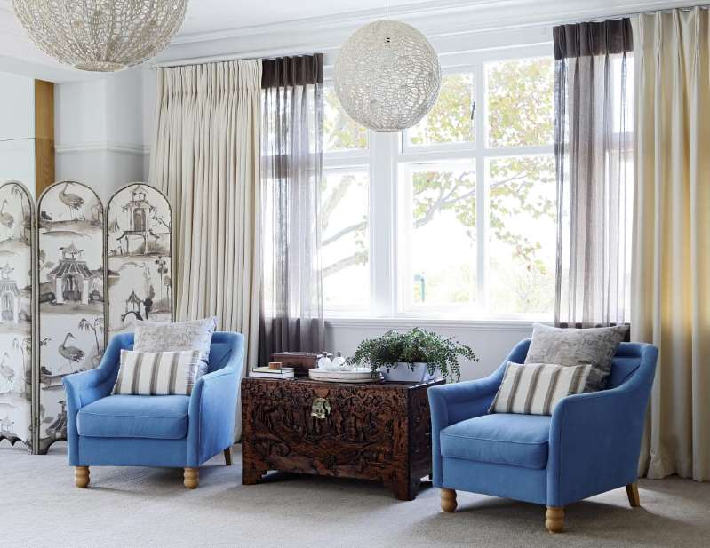 living room curtain Classical Style