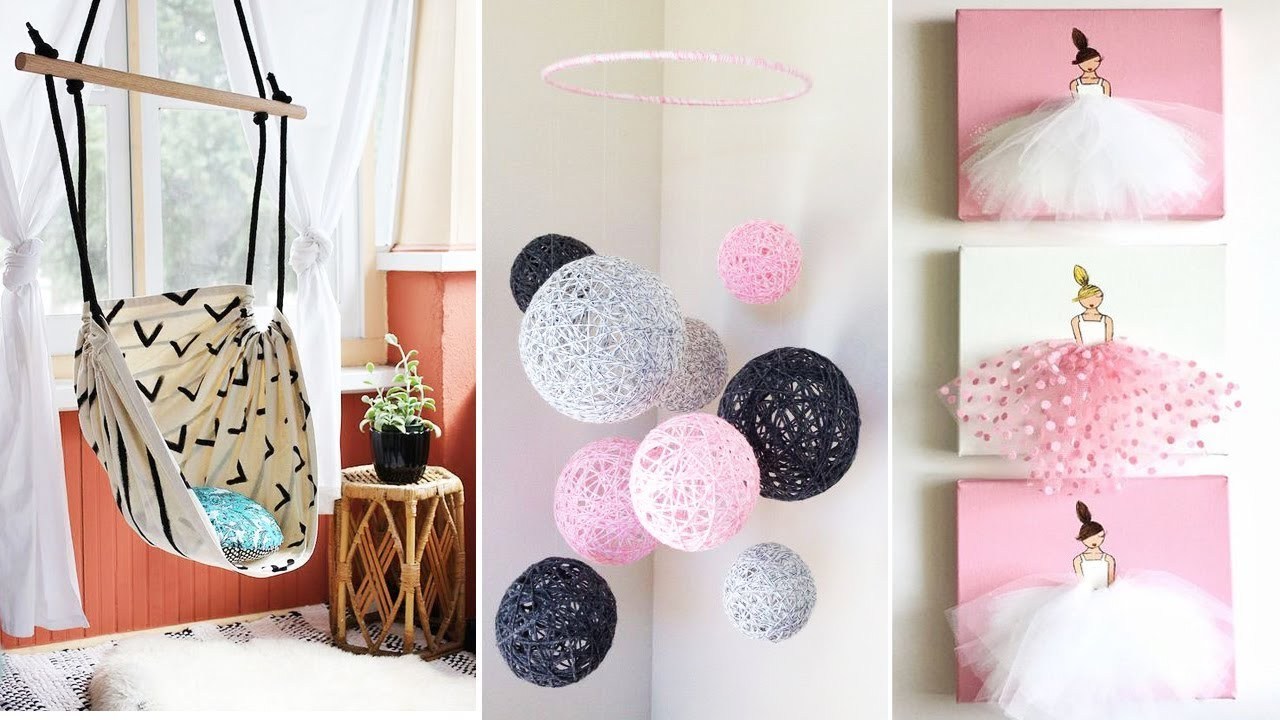 Diy Room Decor 15 Easy Crafts At Home Diy Ideas For Teenagers Diy Wall Decor Pillows Etc Home Decor Ideas