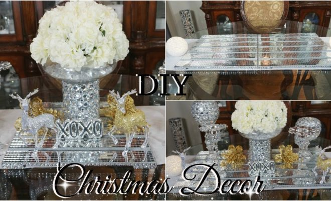 Christmas Table Runner Diy.Diy Dollar Store Glam Christmas Table Runner Diy Christmas