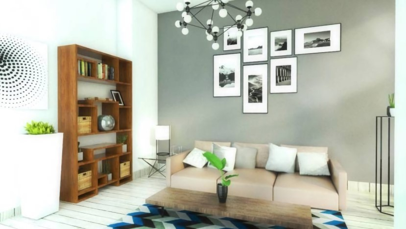 Gray living room combination