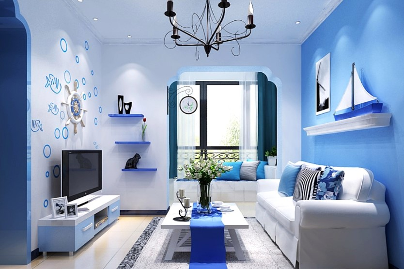 Paint Color Combination of Minimalist Living Rooms