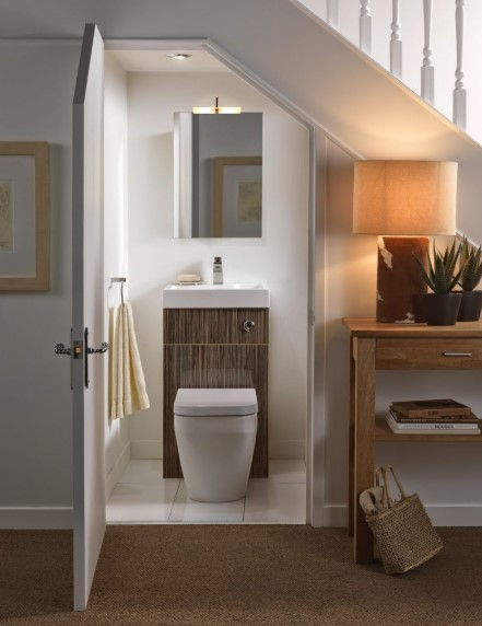 Small Bathroom Design Under the Stairs