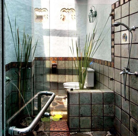 The Design of a Small Bathroom with Nature