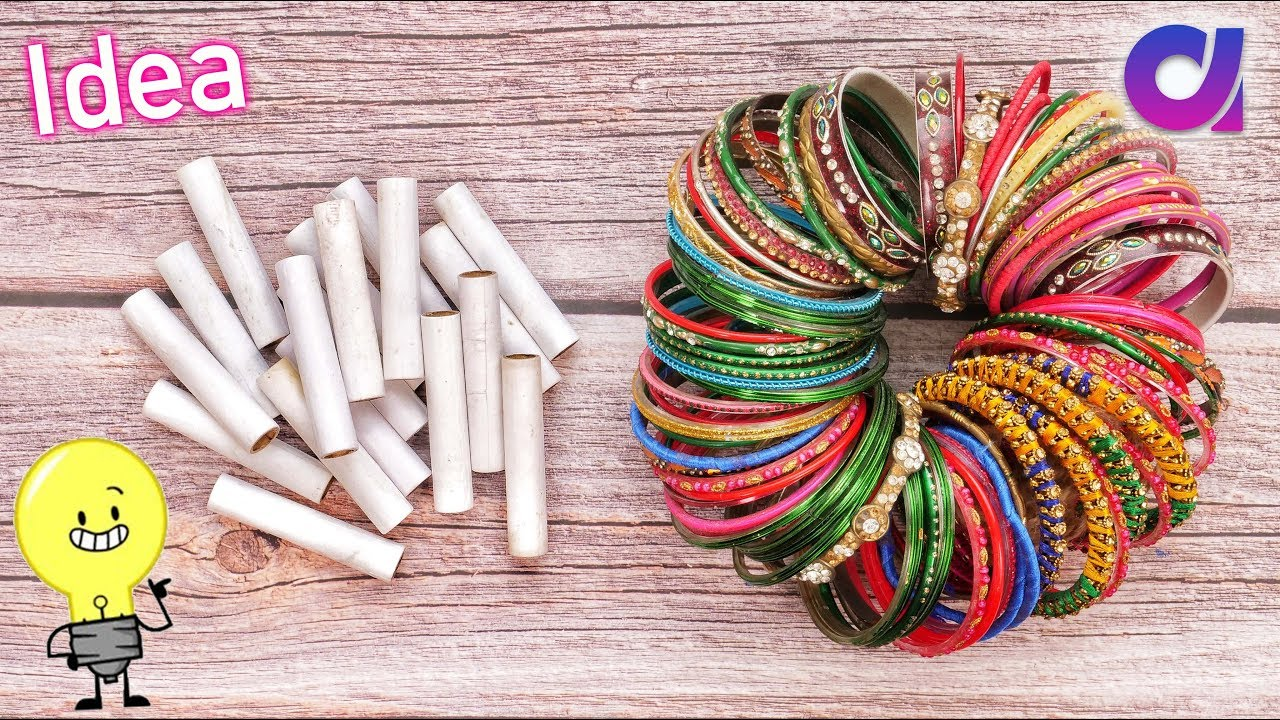 best out of waste bangles thread