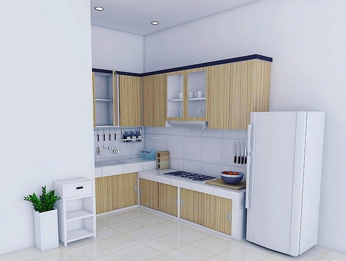 Minimalist Kitchen Set Design for Narrow Kitchens