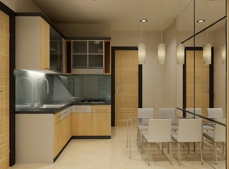 Minimalist Luxury Kitchen Set Design