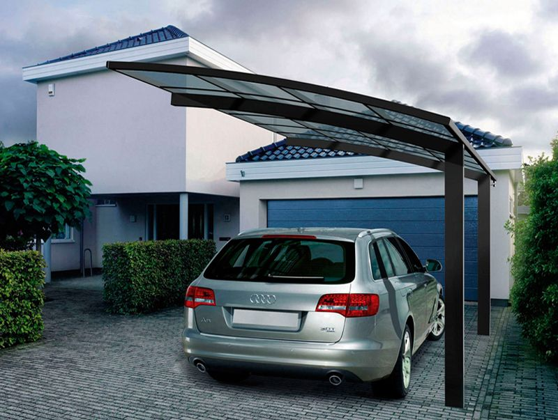 Minimalist garage with Canopy Galvalum