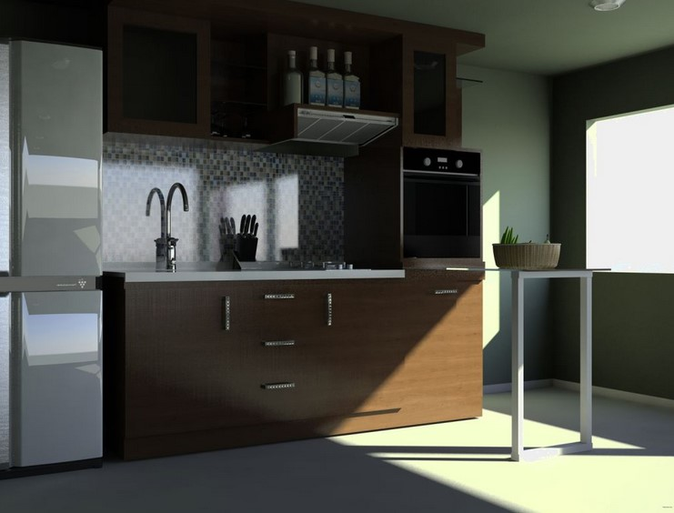 Modern Minimalist Kitchen Set