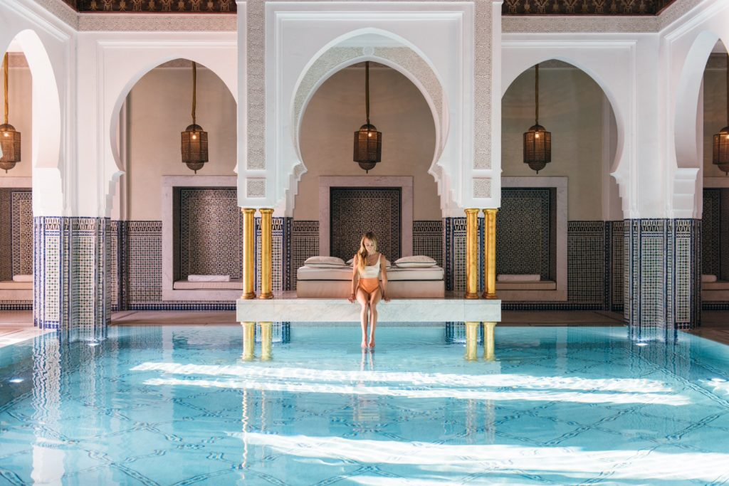 Moroccan architectural style swimming pool