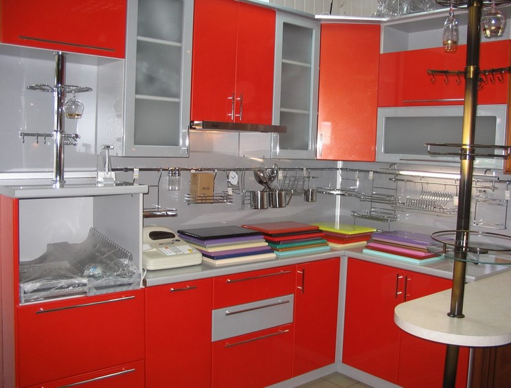 Red Minimalist Kitchen Set