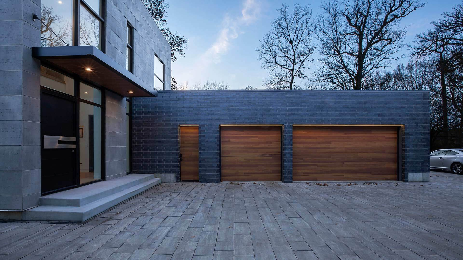 Wood Minimalist Garage