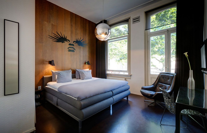 Contemporary model hotel rooms