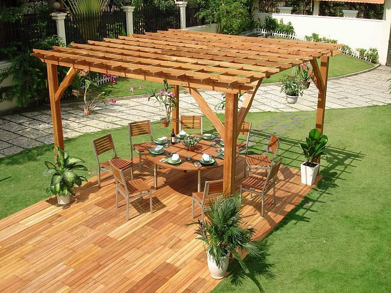Outdoor Space Wood Canopy