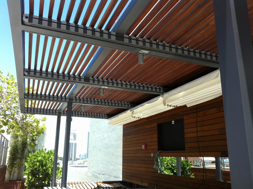 Wooden Canopies with Iron Frames