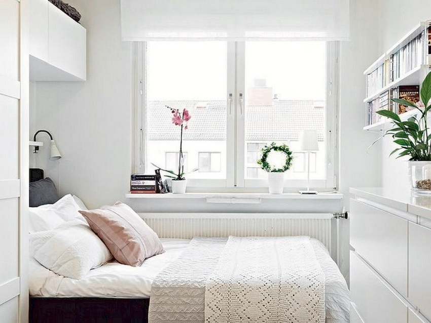 small bedroom design with white color