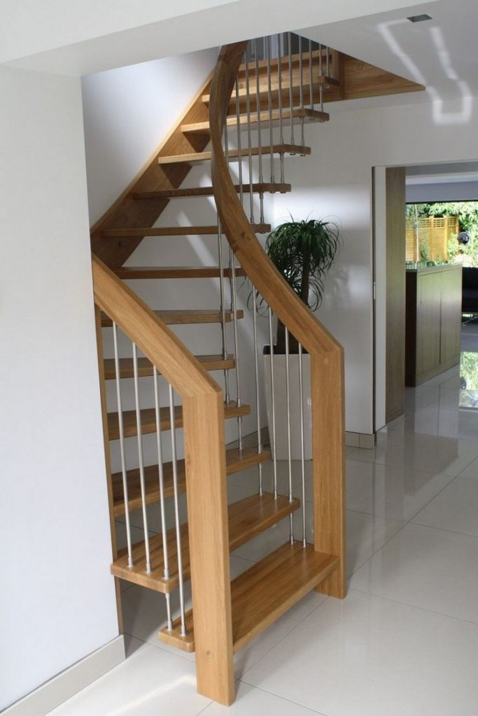 Curved narrow staircase design
