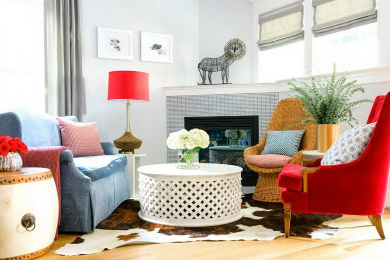 Design a Small Living Room with Bright Colors