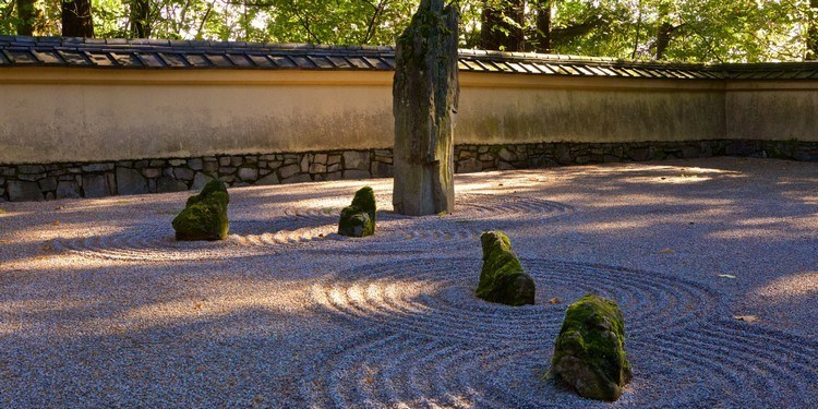 Japanese garden design without plants