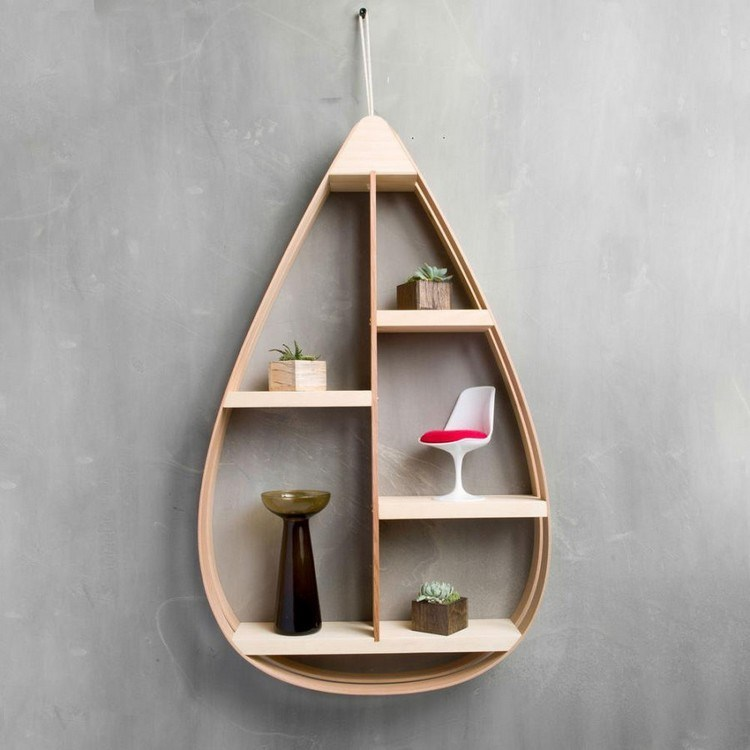 Water drop-shaped item rack