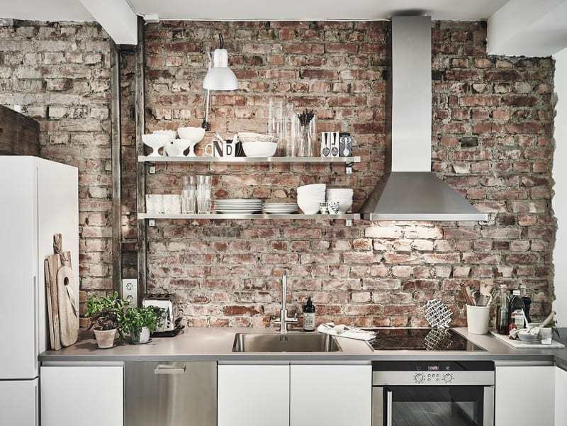 Typical Industrial Narrow Kitchen Design