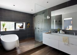 modern bathroom with Masculine Impression