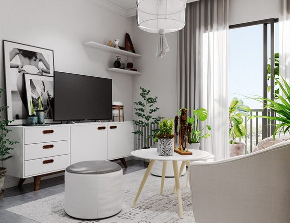 potted life black and grey bedroom