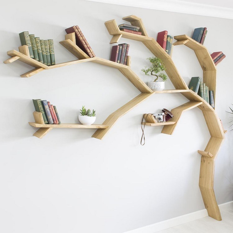 Unique bookshelf tree shape