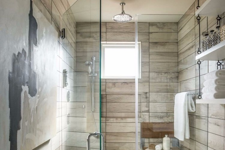 Design a small bathroom with shower