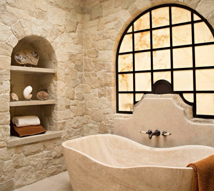 Mediterranean style bathroom design