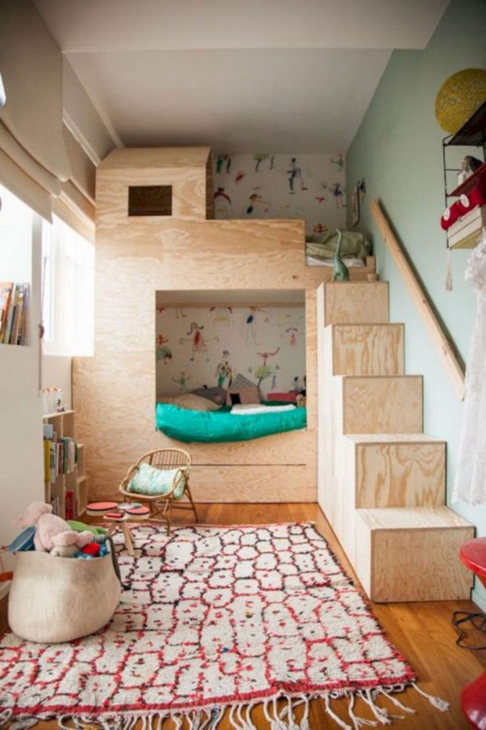 Minimalist 3 × 4 size bedroom design for children