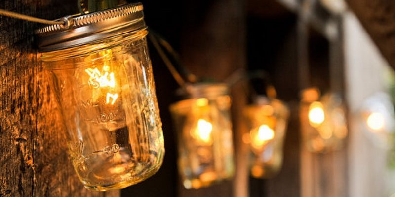 Minimalist Mason Jar Garden Lights