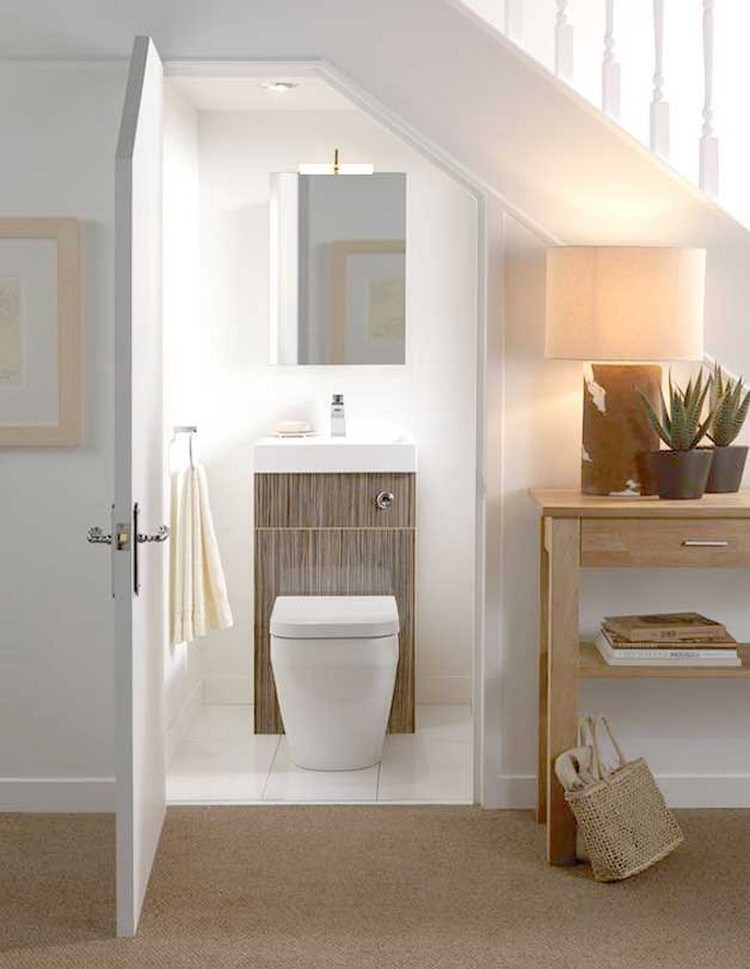 Super Small Bathroom Under the Stairs