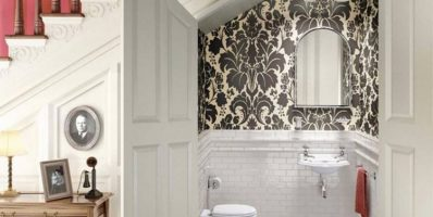 Victorian-style Bathroom under a Staircase