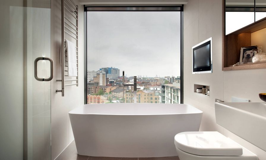 Bathroom Interior with Window