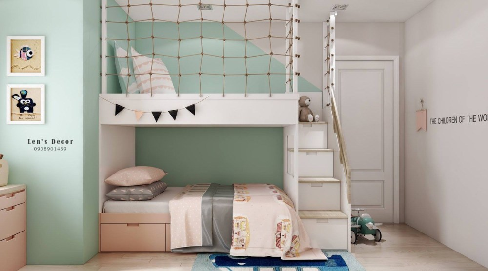 Bunk bed a place to rest and play