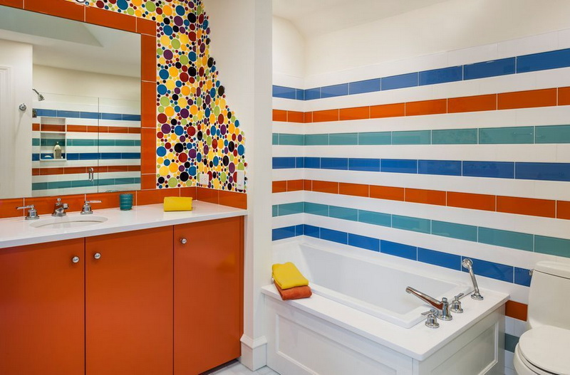 Colorful Bathroom Ceramic Design