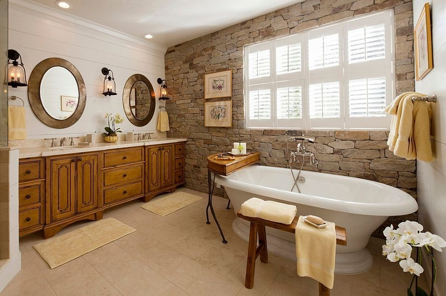 Natural Stylish Bathroom Interiors