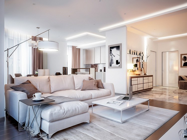 Neutral interior color with soft nuance