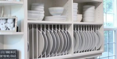 Open Vertical Kitchen Dish Rack