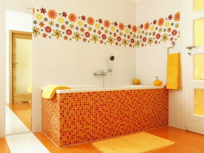 Orange Bathroom Ceramic Design