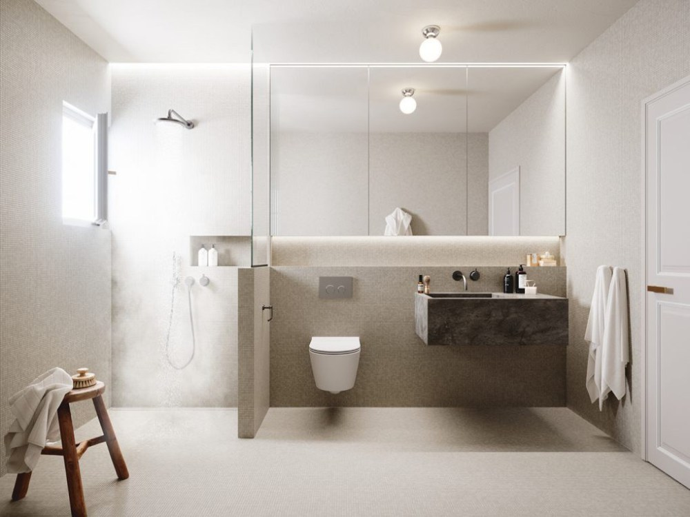 Scandinavian Style Bathroom Interior