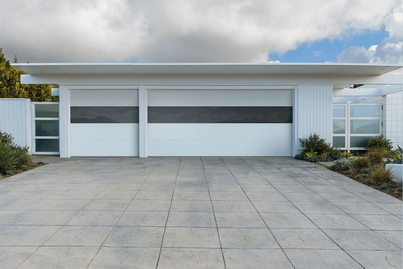 All White Car Garage Design