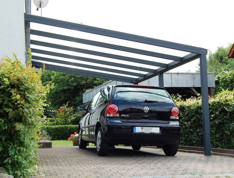 Glass Roof Carport