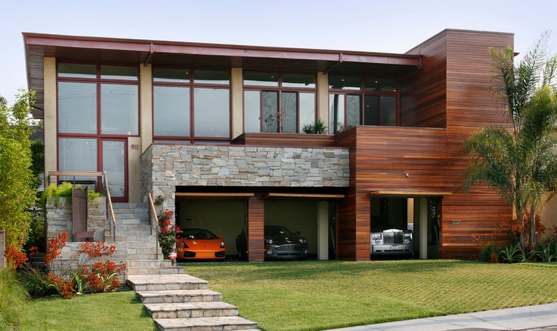 Natural Style Car Garage Design
