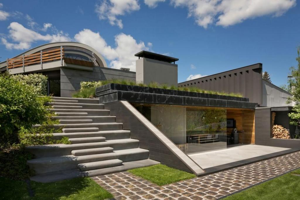Application of Organic Forms for Contemporary Homes