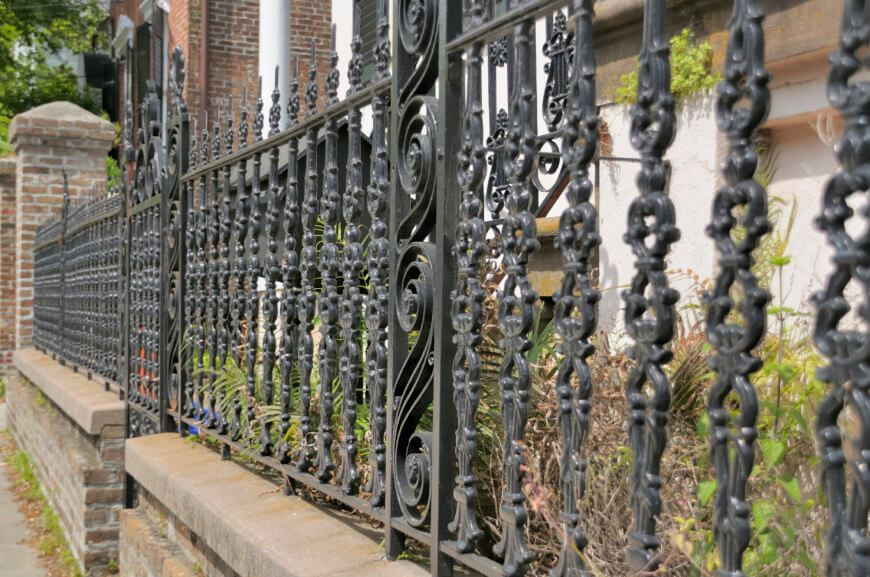 Iron Striped Fence Design