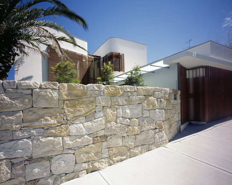 Natural Stone Fence Design